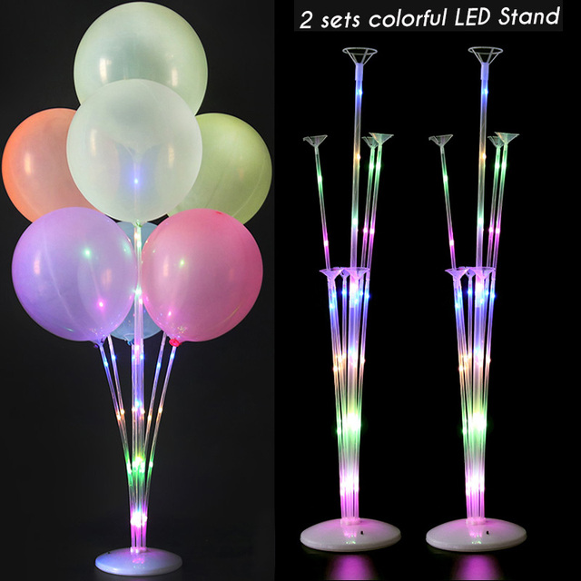 2sets led stands 2