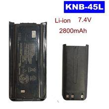 NI-MH 1500mAh 7.2V KNB-29 KNB-29N Ou LI-ON 2800mAh 7.4V Bateria para Walkie Talkie TK-2202 KNB-45L TK2200 TK3200 Rádio