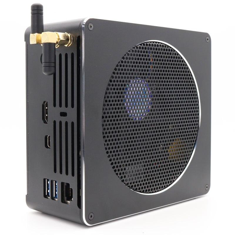 Image 3 - Topton Mini PC Intel Xeon E3 1505M v5 4 Core 8 Threads 2.80 GHz Desktop Computer Win10 Pro 16GB DDR3L AC Wifi 4K Mini DP HDMIMini PC   -
