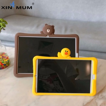 Soft Silicone Stand Cartoon Case for Huawei MediaPad M3 Lite 10 BAH-W09/AL00/L09 10.1'' Tablet Cases Kids Cover Gift Stickers tempered glass for huawei mediapad m3 lite 10 bah w09 bah al00 10 1 inch 9h ultra thin tablet protective toughened glass film