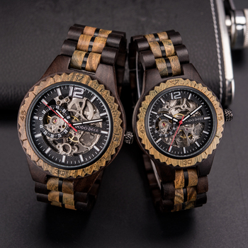 DODO DEER Wooden Mechanical Watch Couple Relogio Masculino Women Men Watches Luxury Timepieces erkek kol saati Dropshipping D18 dodo deer relogio masculino wooden watch men luxury date display wood quartz watches men s great gift erkek kol saati watch c07
