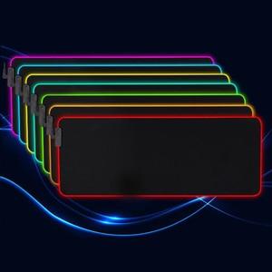 Image 3 - LED RGB ماوس يو اس بي الوسادة الألعاب الفئران خريطة كبيرة كبيرة الإضاءة الخلفية قوس قزح ألعاب XL ماوس 900x400 سطح لوحة المفاتيح DeskMat Maus