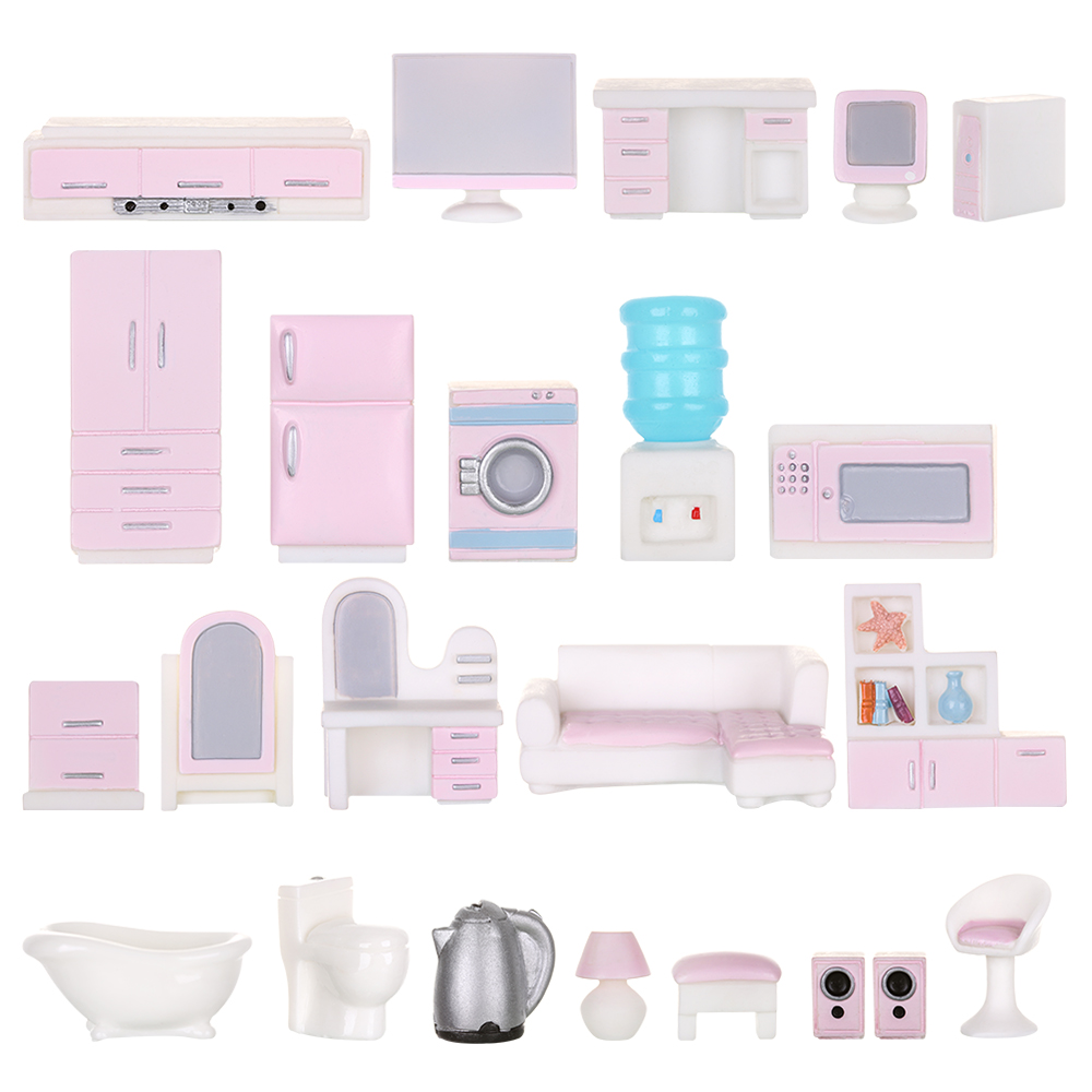 1PC Dolls Resin Toys Girls Gift Micro Landscape Toy Dollhouse Decor Simulation Fitment Miniature Furniture Kids doll Accessories(China)