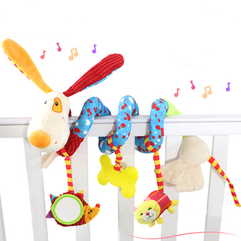 Baby Toys 0-12 Months Educational Mobile for Newborns Crib Rattle Babies Toddlers Boy Plush Child Stuffed Animals Children Soft