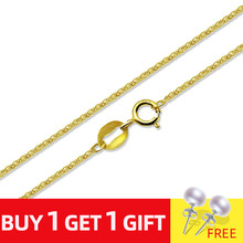 NYMPH Genuine Guarantee 18K Gold Chain Fine Jewelry Real au750 Necklace Wedding Banquet Gift for Female X312-N