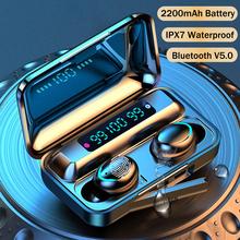 TWS Bluetooth 5 0 słuchawki bezprzewodowe 9D Stereo sport wodoodporna redukcja szumów słuchawki z mikrofonem 2200mAh etui z funkcją ładowania cheap NoEnName_Null Dynamiczny CN (pochodzenie) wireless 120dB Do Gier Wideo Wspólna Słuchawkowe Dla Telefonu komórkowego Słuchawki HiFi