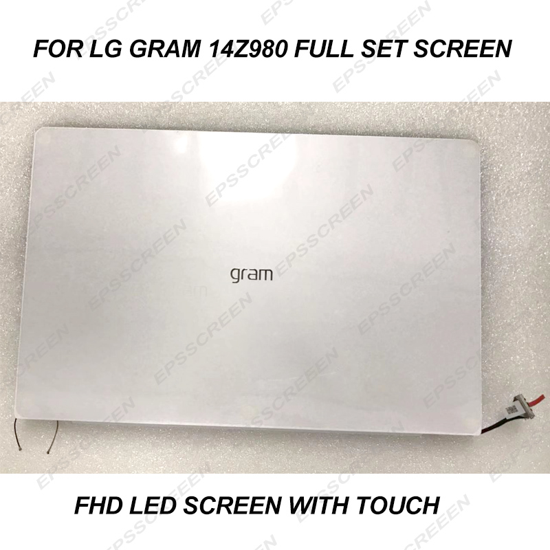 14.0 NEW FULL ASSEMBLY SCREEN FOR LG GRAM 14Z980 white FHD IPS WIDEVIEW TOUCH DIGITIZER PANEL TOP SET LED LCD NOTEBOOK DISPLAY - 3