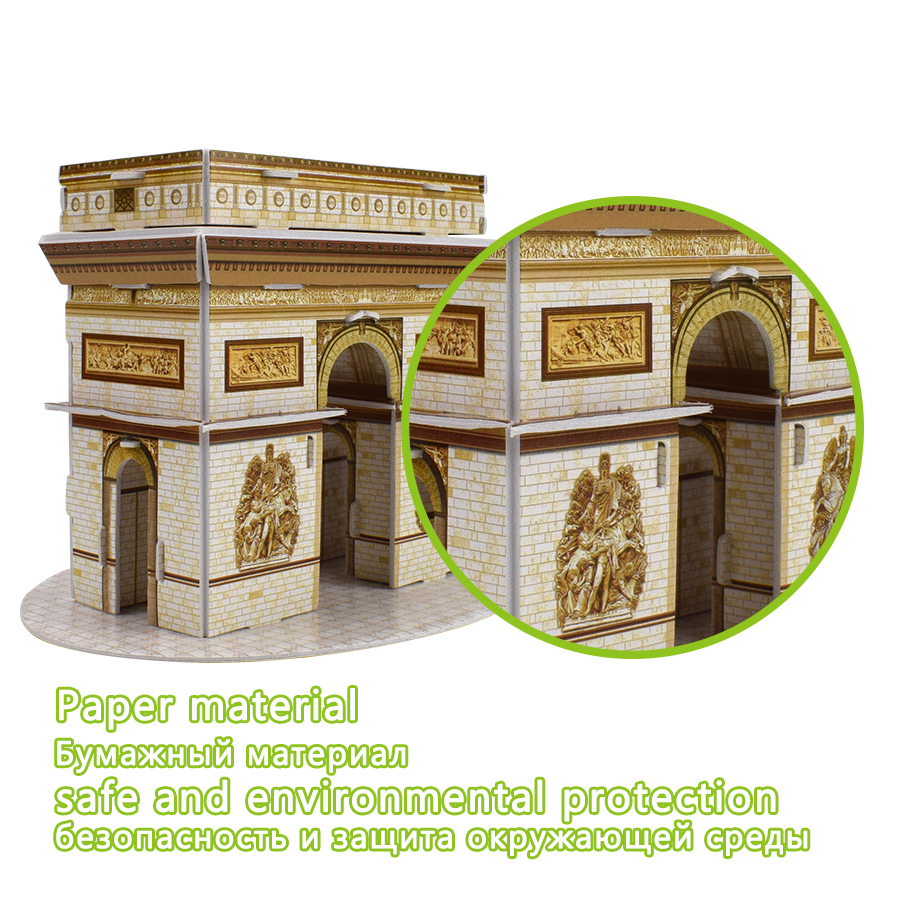 Carboard Jigsaw Model 3D Puzzle Sydney Opera House DIY Toy