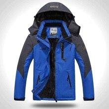 Мужская зимняя куртка, толстая бархатная теплая куртка, ветрозащитная куртка с капюшоном, Повседневная Верхняя одежда для альпинизма 6XL размера плюс, 2020