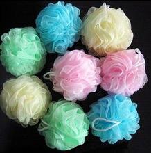 Красочный ванна душ мыло пузырь тело мыть отшелушивание скраб слойка губка сетка сетка мяч мягкий цвет случайный
