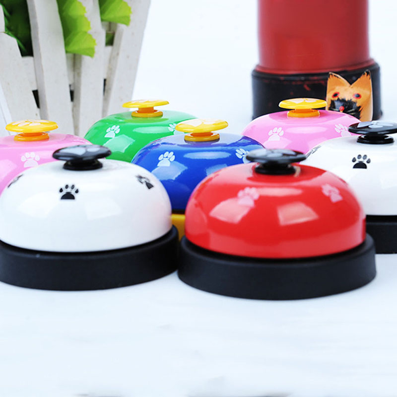 Pet Call Bell Dog Ball-Shape Paws Printed Meal Feeding Educational Toy Puppy Interactive Training Tools Food Feed Reminder-5