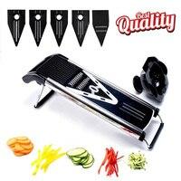 TTLIFE Random Color Multifunctional V Slicer Mandoline Slicer Food Chopper Fruit & Vegetable Cutter with 5 Blades kitchen Tool