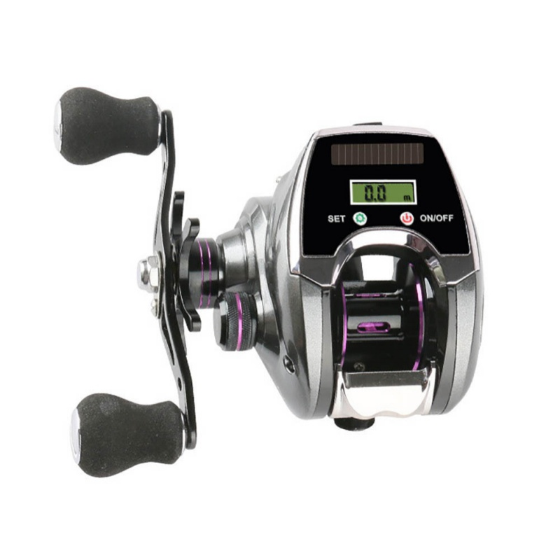 Intelligent Digital Display Lure Fishing Rod Fishing Line Counting Wheel Fishing 6+1 Ball Bearing Bait New Baitcast Reel River