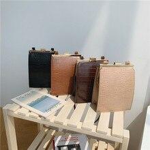 Women Handbag Clip Messenger-Bag Crossbody-Bag Crocodile-Pattern Shoulder Casual Brand