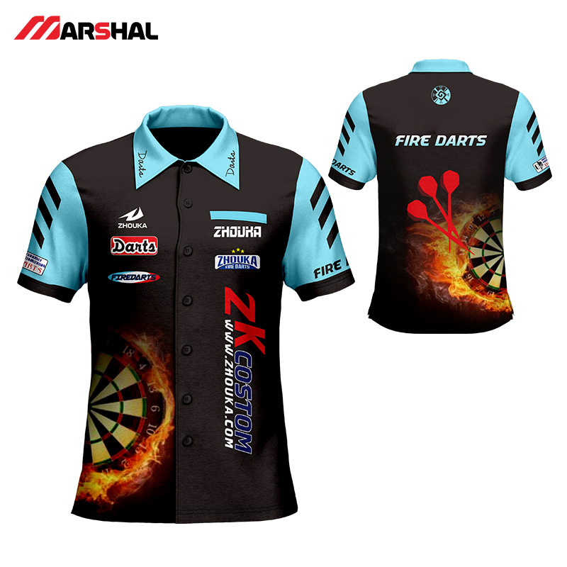 Custom Men's Shooting Shirt With Sublimation Printing Factory Custom  Darts Men's T Shirt  China OEM Manufacturer Design
