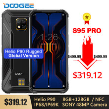 Doogee s95 pro 8gb 256gb/128gb modular robusto, helio p90 octa core 6.3 ''câmera tripla 48mp mah android 9.0 nfc