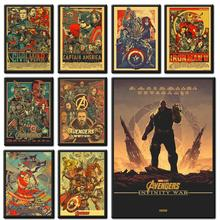Miracle Movie Avengers Poster, Kraft Decorative Painting, Wall Sticker, Art Painting Retro Poster