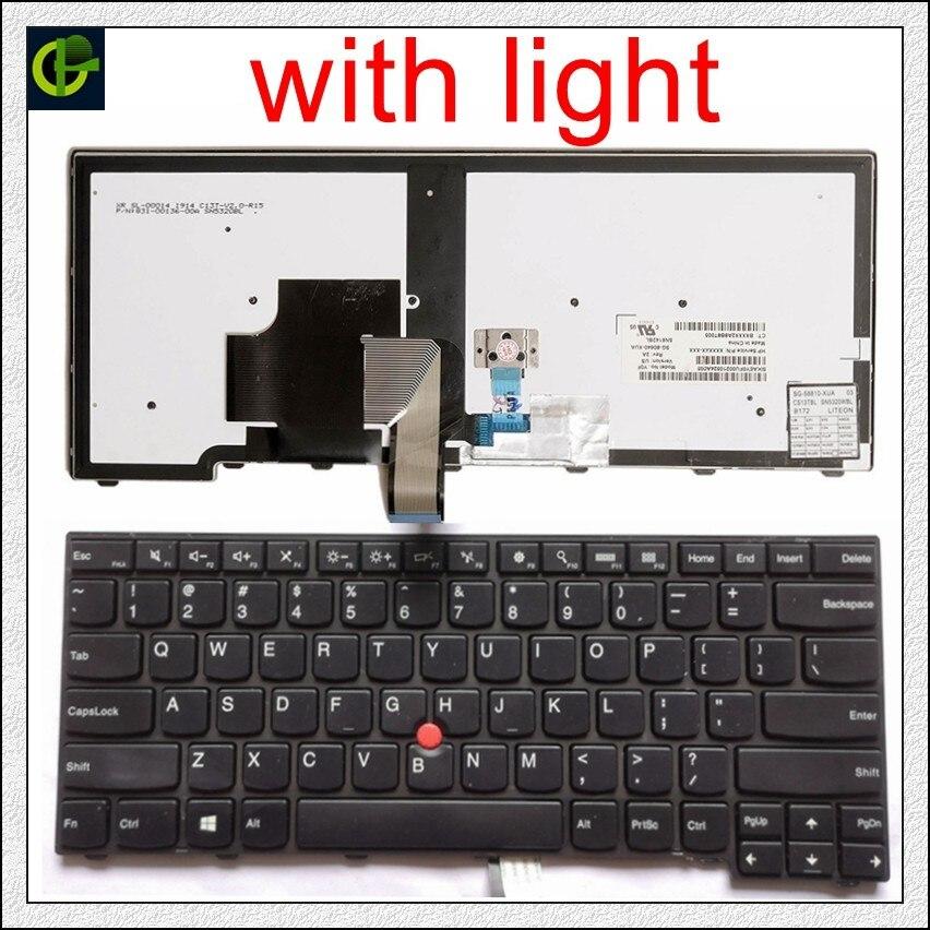 Original Backlit English Keyboard for lenovo ThinkPad L440 L450 L460 L470 T431S T440 T440P T440S T450
