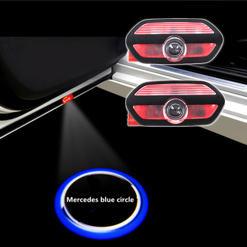 2x LED car door light Logo Projector laser light For Mercedes Benz S series W222 AMG S63 S65 Car light decoration Accessories
