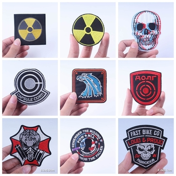 Stalker Stripes Iron On Patches For Clothing Nuclear Power Plant Radiation Capsule Corp Badges Military Tactical Cloth Patch DIY nuclear power plant design using gas cooled reactors