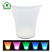 где купить Colorful Large Capacity 5L Ice Bucket Champagne Wine Beer Drinks Cooler Waterproof With Colors Changing Kitchen Bar Party Tools по лучшей цене