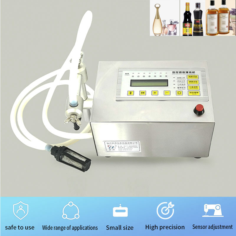 Máquina de llenado de botellas de leche de Perfume de aceite de agua de Control Digital de 5-3500ml