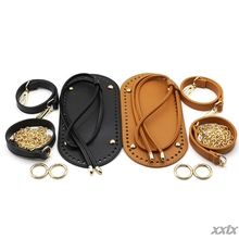 5Pcs/Set DIY Crochet Handbag Accessories Faux Leather Shoulder Strap Bag Bottom A69C