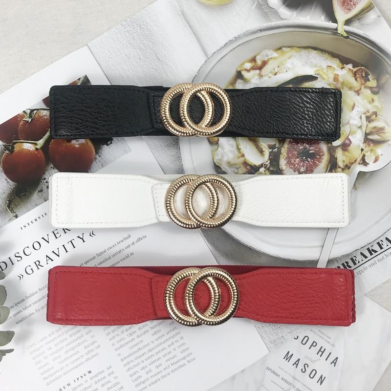 Elastic Wide Belt Waist Stretch Belts For Women Luxury Brand Plus Size Ceinture Femme G Cummerbunds 2020 Adjustable Waistband