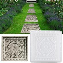 DIY квадратная садовой дорожки бетонной Пластиковая форма для кирпича форма цветка тротуарная пропиленовая тротуарная дорожка садовая аллея украшение здания