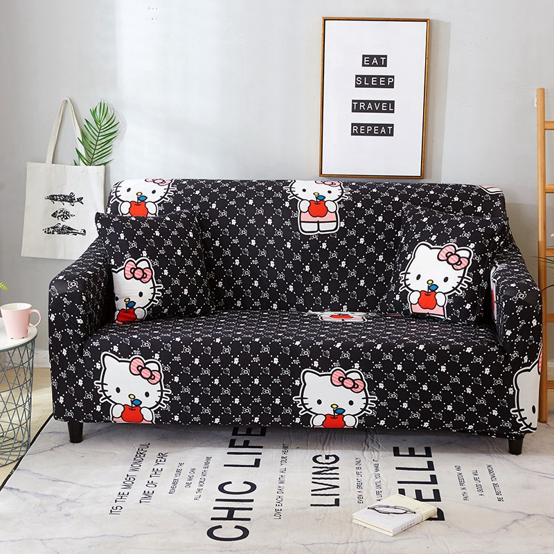 Astounding Us 19 9 39 Off Hello Kitty Sofa Cover For Living Room Stretch Leather Couch Covers Elasitc Sectional Sofa Slipcovers For Furniture Protection In Alphanode Cool Chair Designs And Ideas Alphanodeonline