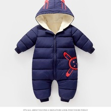 Outfit Born Romper Jumpsuit Baby-Boy-Girl Winter New Thick Hooded Cotton Costume Toddler