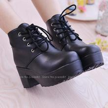 Women Anime Cosplay Round Head High Heel JK Uniform Japanese Students Leather Boots Party Dance Lolita Royal Sister Martin Shoes