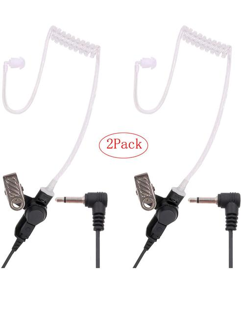 Earpiece 3.5mm Police Listen Only Acoustic Tube with One Pair Medium Earmolds