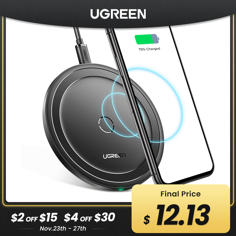Ugreen Wireless Charger for iPhone 12 X Xs Xr 8 10W Qi Fast Wireless Charging Pad for Samsung S10 S9 Note 9 Xiaomi Charger|wireless charger|qi…