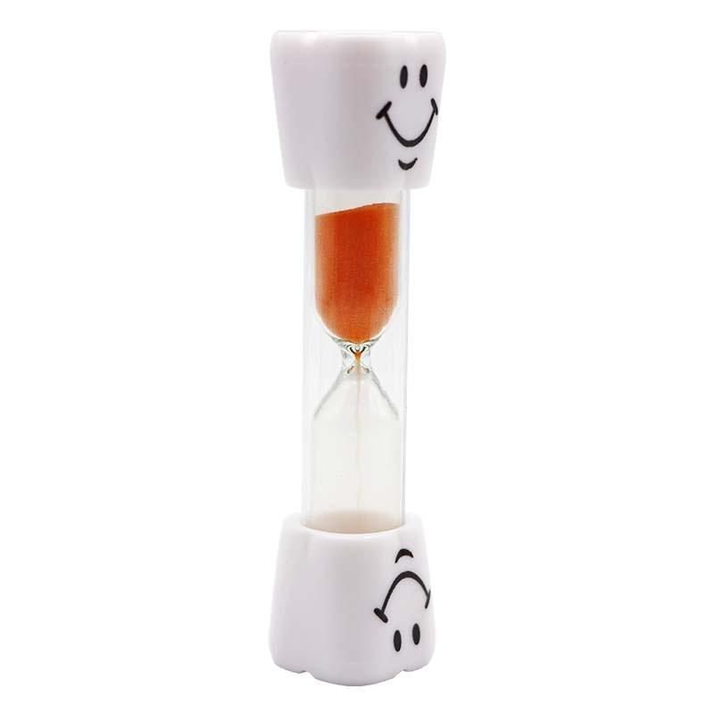 5 шт. 7 цветов зубные Зубы Форма Песок Часы песок час стекло 3/три минуты Дети зубная щетка таймер песок стекло стоматолога подарки инструменты - Color: Orange