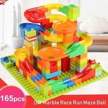 Building-Blocks Track Race-Run Maze-Ball Construction-Marble for Children Bricks-Set