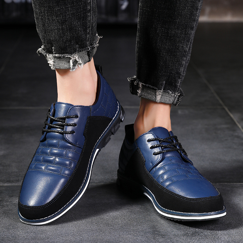 Leather Men Casual Shoes Formal Shoes Loafers Lace-up Flats Mesh Sneakers Oxfords Shoes Mens Trainers Mocasines Hombre