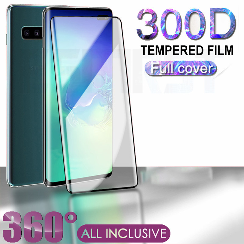 <font><b>300D</b></font> Curved Tempered Glass For Samsung Galaxy S9 S10 S20 Plus S10e Glass Screen Protector Note 8 9 10 S20 Ultra Protection Film image