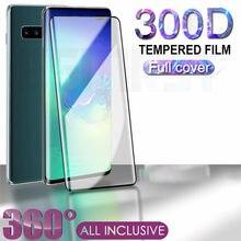 300d curvado vidro temperado para samsung galaxy s9 s10 s20 plus s10e protetor de tela de vidro nota 8 9 10 s20 ultra película de proteção