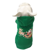 Santa Claus Send Warm Floral Print Pet Festival Grooming Accessories Thickening Autumn Winter Costume Dog Christmas Hoodie