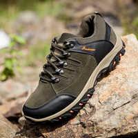 2019 nouveaux hommes chaussures décontractées Zapatos de Hombre confortable imperméable à l'eau en plein air randonnée chaussures printemps et automne en caoutchouc baskets