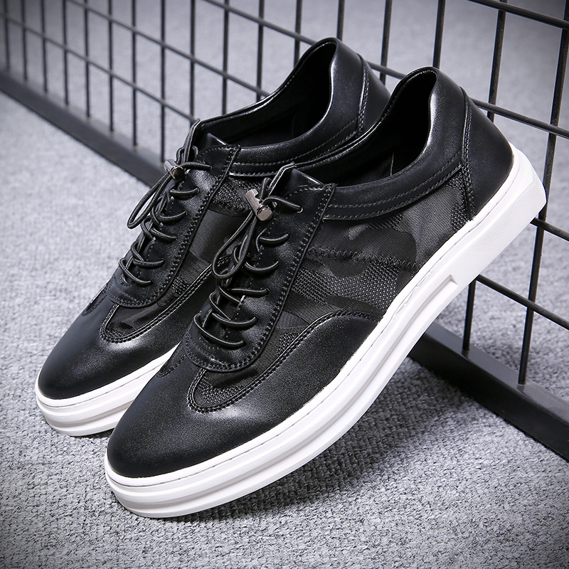 2019 New Mens Shoes High Quality Men Dress Shoes Comfortable Lace Up Flat Shoes Breathable Casual Sneakers