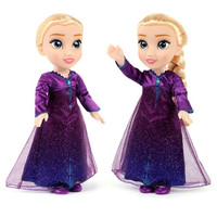 35CM Disney Frozen Queen Elsa Princess Play House Smart Doll Can Say Lines Skirts Will Glow And Sing The Theme Song Toy X4673