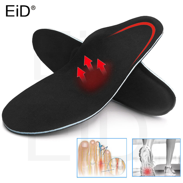 5D High quality Strong orthotic insole for Flat Feet high Arch Support orthopedic shoes sole Insoles for men and women OX Leg