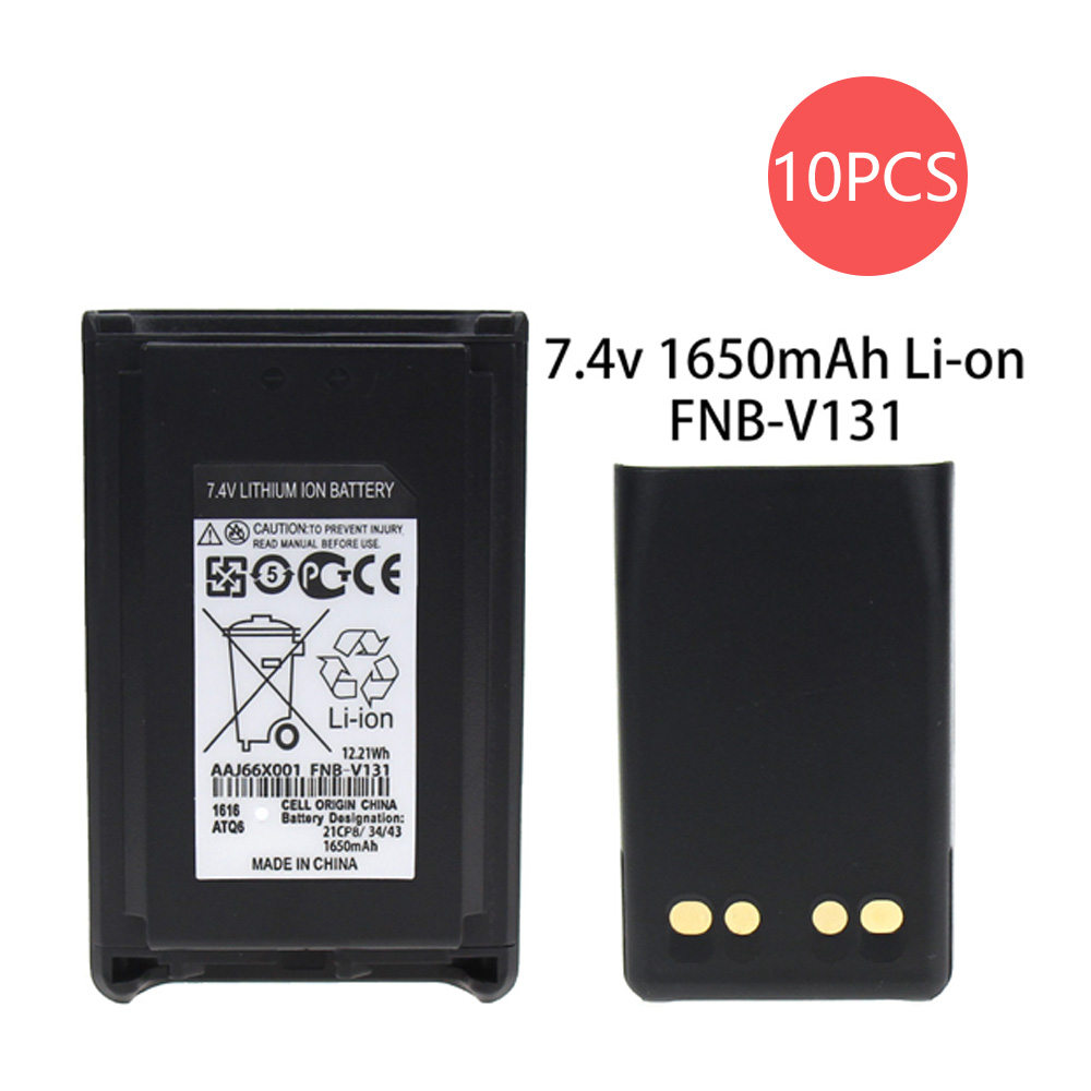 10X FNB-V106 1650mAh 7.4V Replacement Li-on Battery For Yaesu Vertex Standard VX-230 VX-231 VX-231L VX228 Radios