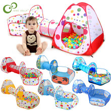 Kids Play Tents Crawl Tunnels and Ball Pit Popup Bounce Playhouse Tent with Basketball Hoop for Indoor and Outdoor Use