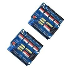 2Pcs ShengYang Sensor Shield Expansion Board Shield for UNO R3 V5.0 Electric Module New for Arduino Uno R3