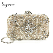 Evening Bag For Women Handmade Beaded Pearl Clutch