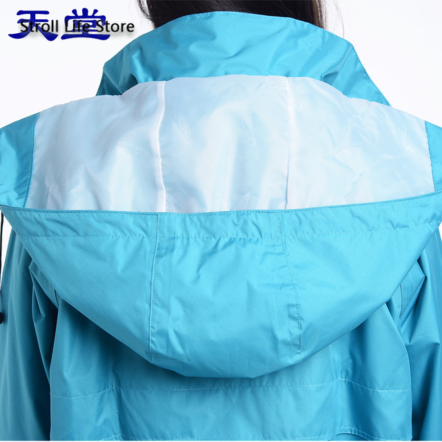 Adult Men Windbreaker Rain Coat Women Outdoor Long Rain Coat Travel Hiking Rain Poncho Trench Coat Men Waterproof Suit Gift 1