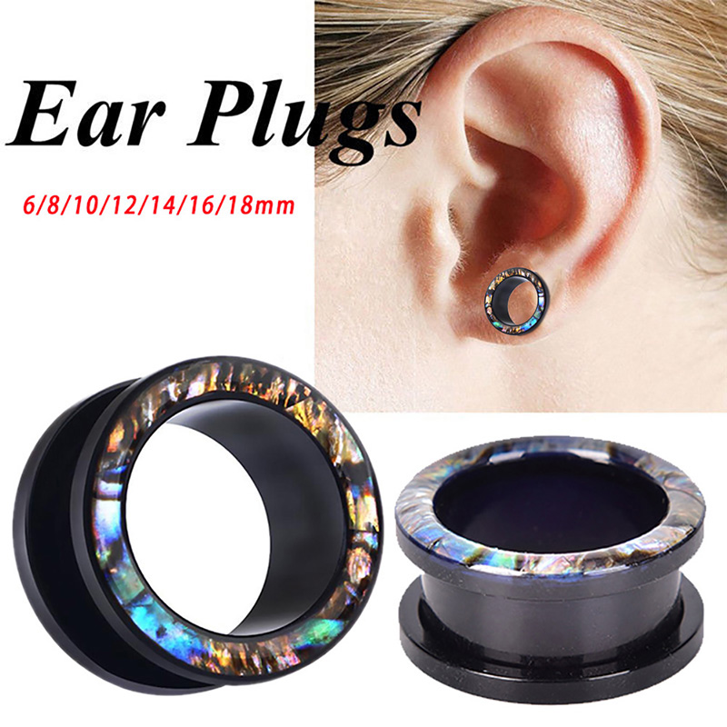 1PC fashion Ear Flesh Tunnels Plugs Double Flare Gauges Tunnels Plugs Earrings Jewelry Acrylic 6mm/8mm/10mm/12mm/14mm/16mm/18mm image